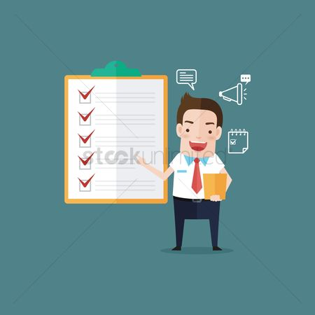 Checklists : Businessman with checklist