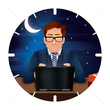 Moon : Businessman working