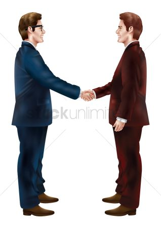 Smart : Businessmen shaking hands