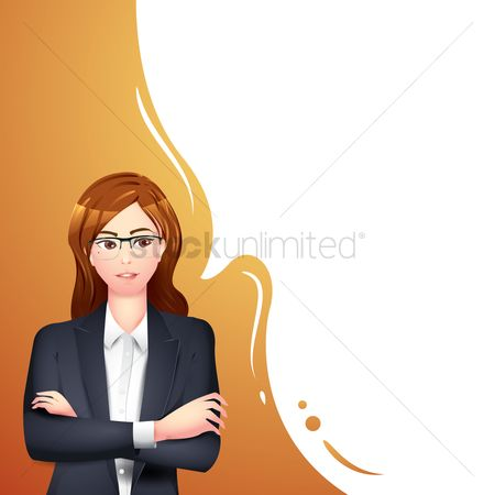 Arm : Businesswoman with arms folded