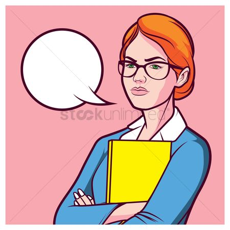 Businesspeople : Businesswoman with speech bubble
