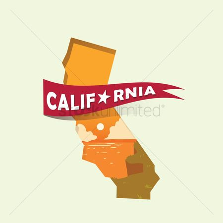 Cartography : California map