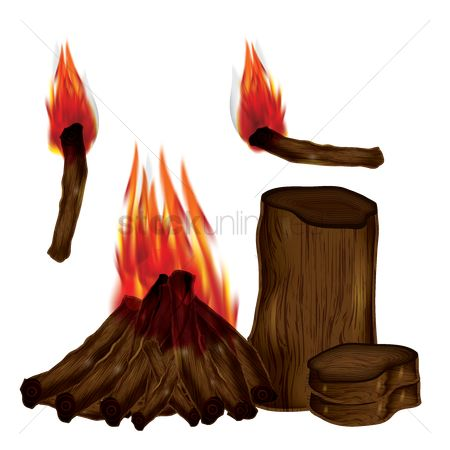 Logs : Camp fire