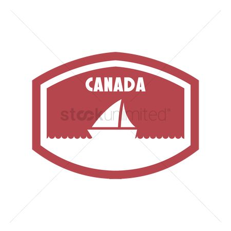 Yachting : Canada label design