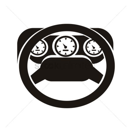 Car speedometer : Car dashboard