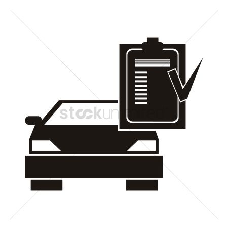 Check mark : Car with checklist