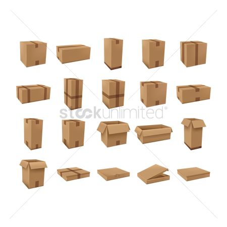 Dimensional : Cardboard boxes set