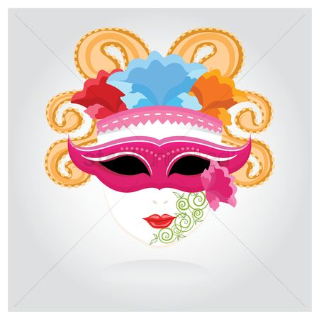Headdress : Carnival mask
