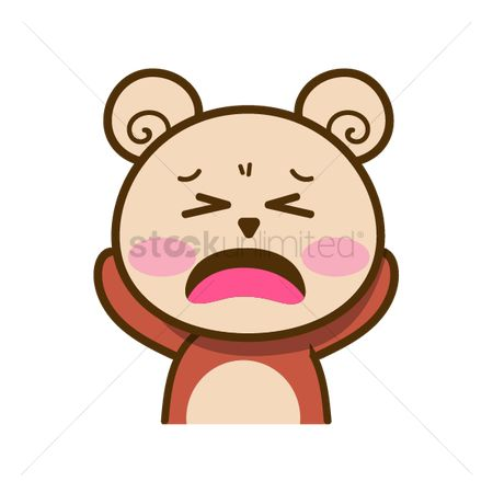 Teddybears : Cartoon bear feeling uphappy