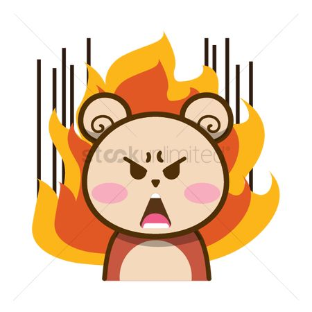 Teddybears : Cartoon bear in enraged