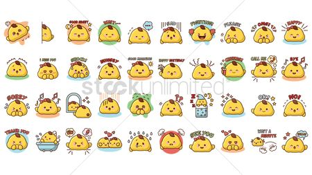 Beverage : Cartoon character expressions set