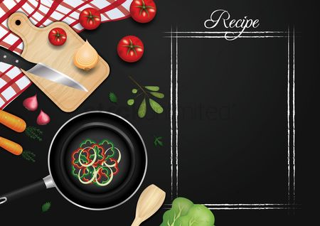 Blackboard : Chalkboard recipe design