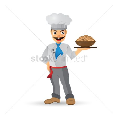 Servings : Chef holding a bowl of noodles