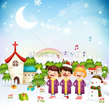 Boxes : Children singing christmas carols