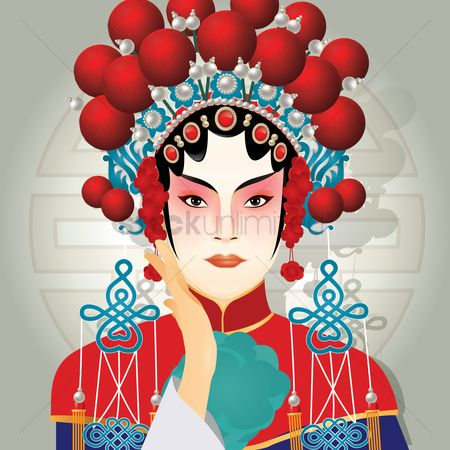 Headdresses : Chinese traditional woman