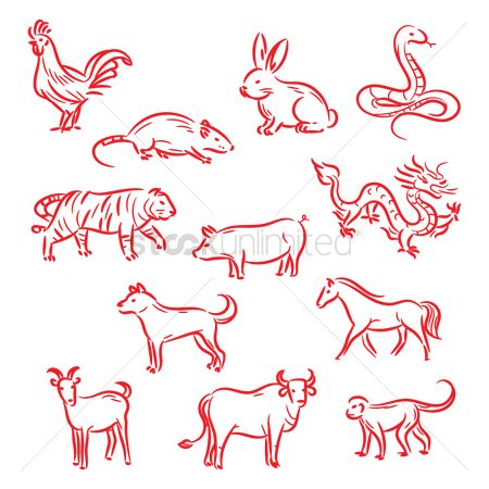 Character : Chinese zodiac animals