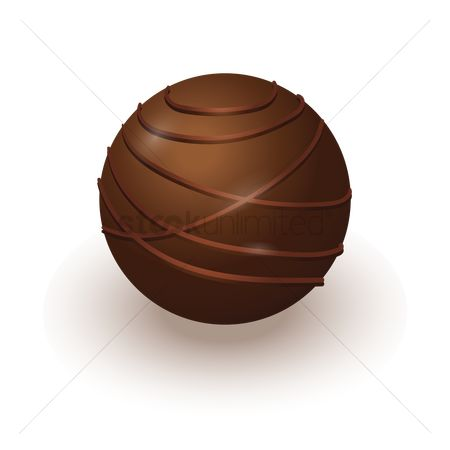 Confection : Chocolate ball