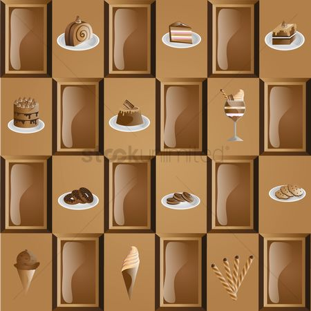 Biscuit : Chocolate themed pattern