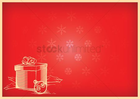 Gifts : Christmas background with a christmas present