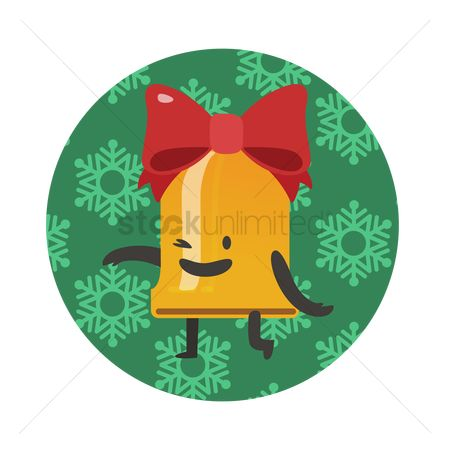 Jingle bells : Christmas bell winking