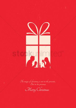 Dinner : Christmas greeting design