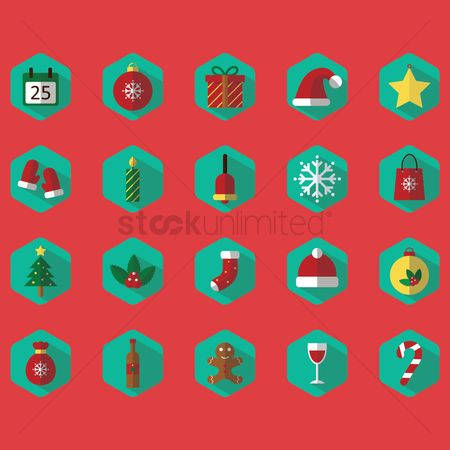 Sack : Christmas icon set