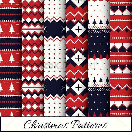 Wallpaper : Christmas patterns set