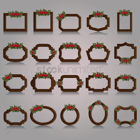 Fruit : Christmas photo frames