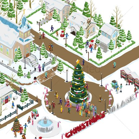 Kids : Christmas village