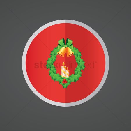 Jingle bells : Christmas wreath with candles