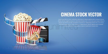 Free popcorn bucket stock vectors stockunlimited 1825253 popcorn bucket cinema concept template maxwellsz