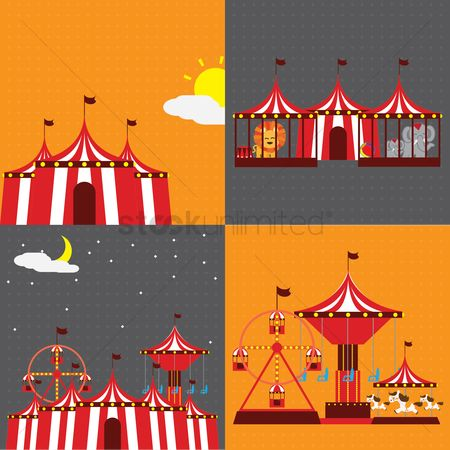 Tents : Circus equipment collection