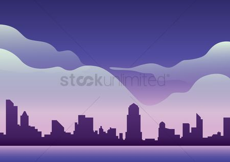 Skyscraper : City background