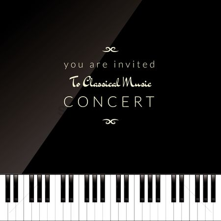 Melody : Classical piano concert invitation design