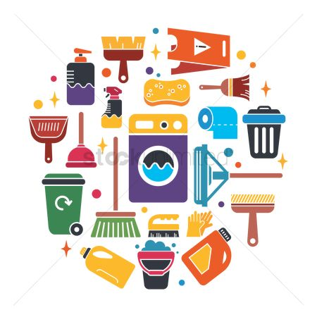 Electronic : Cleaning icon collection