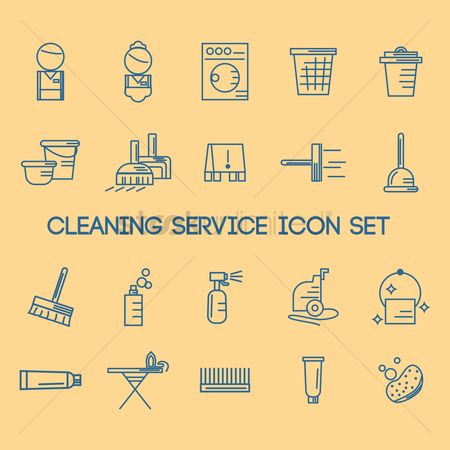 Housekeeping : Cleaning service icon set