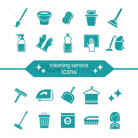 Broom : Cleaning service icons