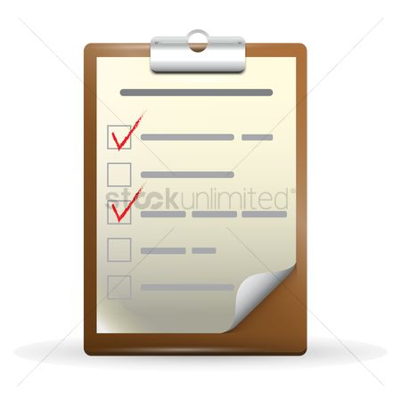 Pad : Clipboard with checklist