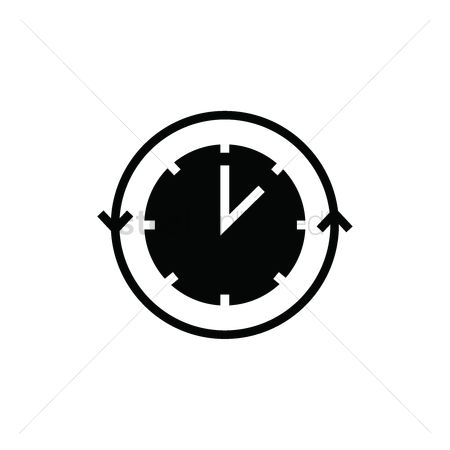 2001857 Continue Clock With Arrow Icon