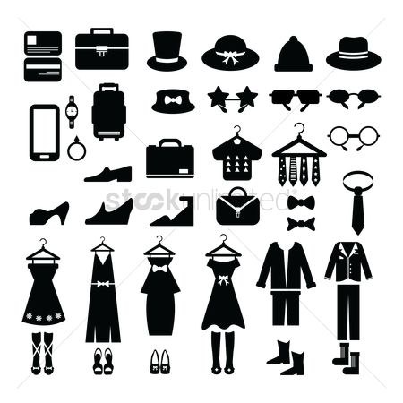 Briefcase : Clothing icon collection