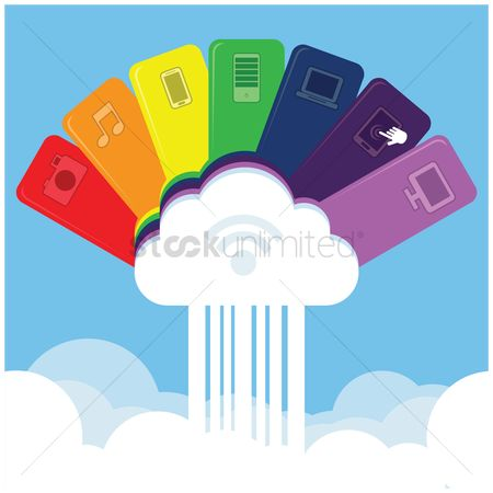 Wifi : Cloud storage concept