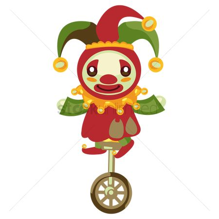 Clowns : Clown on tricycle