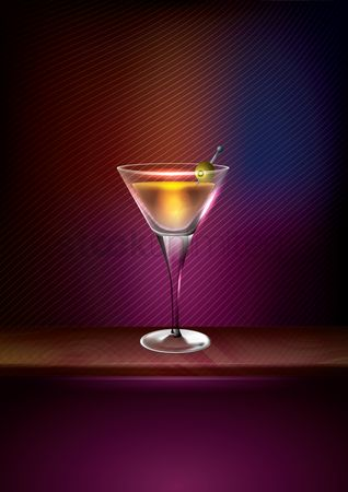 Lighting : Cocktail poster design