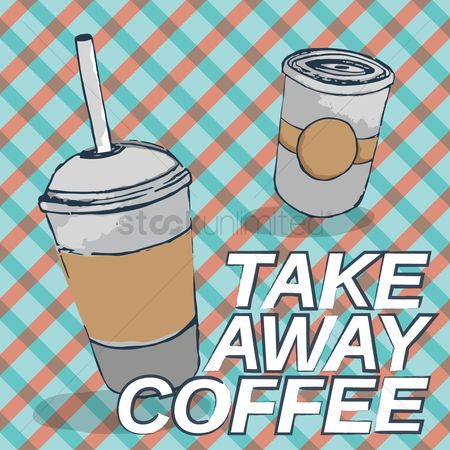 Take away cup : Coffee design concept