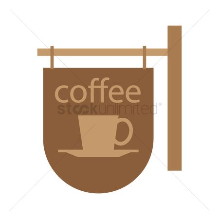 Wooden sign : Coffee hanging sign