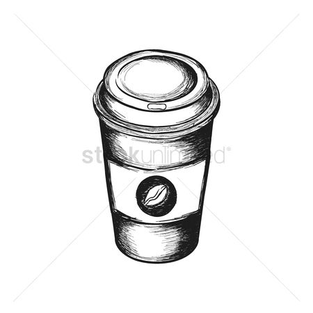 Take away cup : Coffee in disposable cup