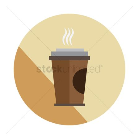 Disposable cup : Coffee in paper cup