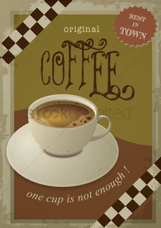 Old fashioned : Coffee poster