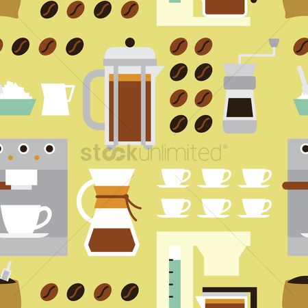 French : Coffee theme background
