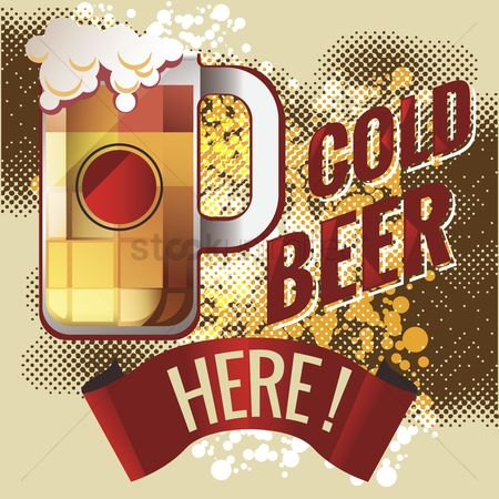 Old fashioned : Cold beer design